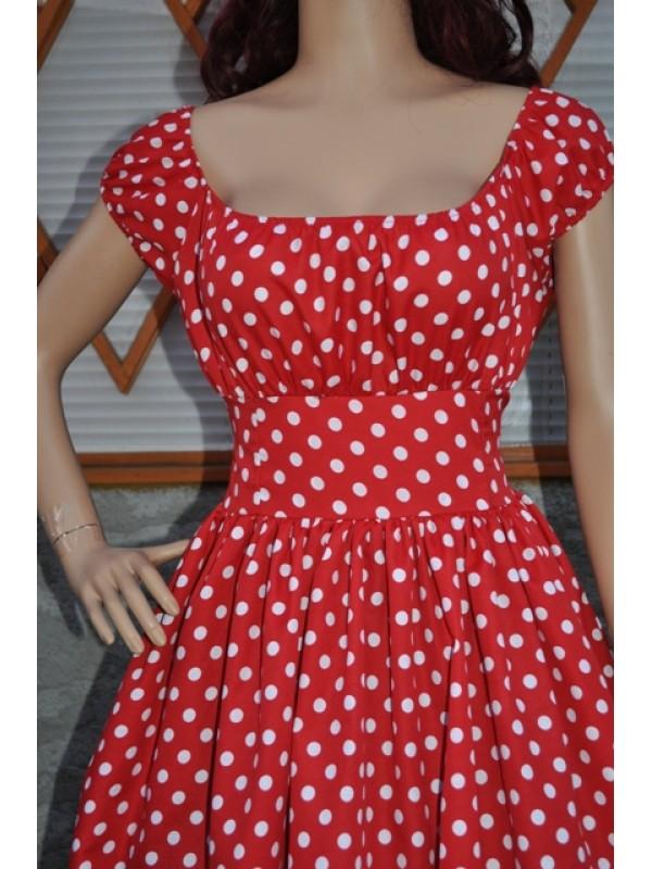women's dress retro vintage swing style Peasant Dress low shoulder
