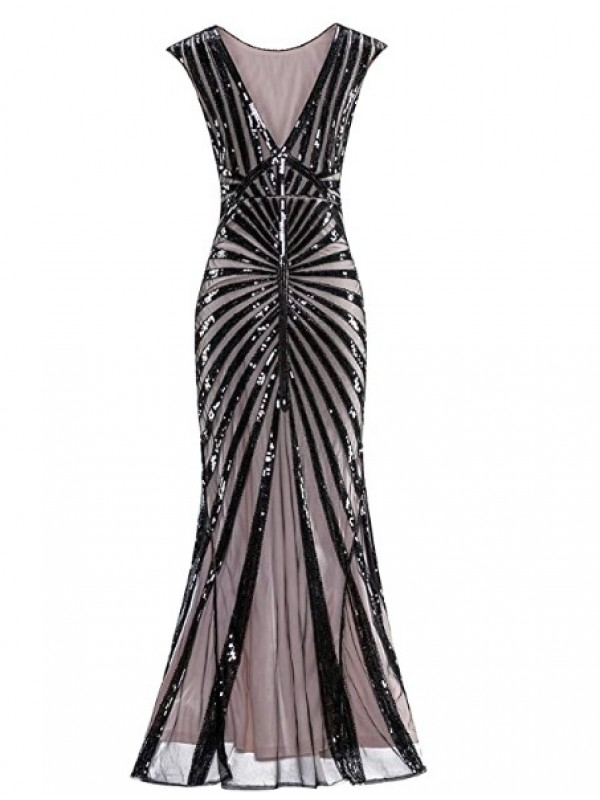1920's Sequin Mermaid Formal elegant maxi Long dress