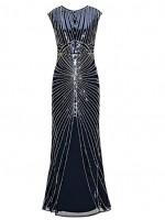 1920's Sequin Mermaid Formal elegant maxi Long dress