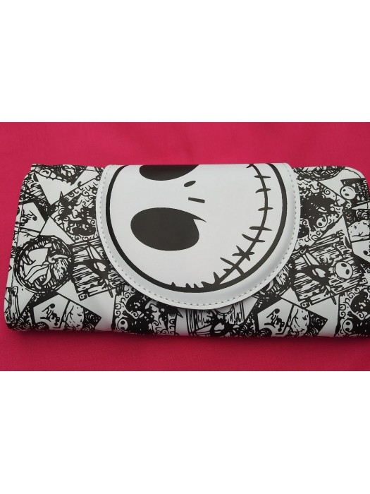 women's wallet Nightmare Disney accessories white and black
