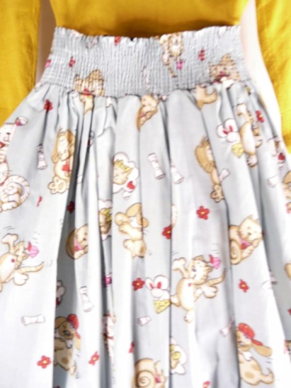 Woman's retro Vintage circle skirt kitty