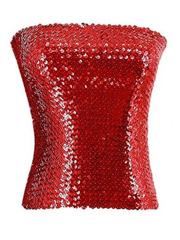 Women's  Sexy Sparkling Sequins Stretch tube top