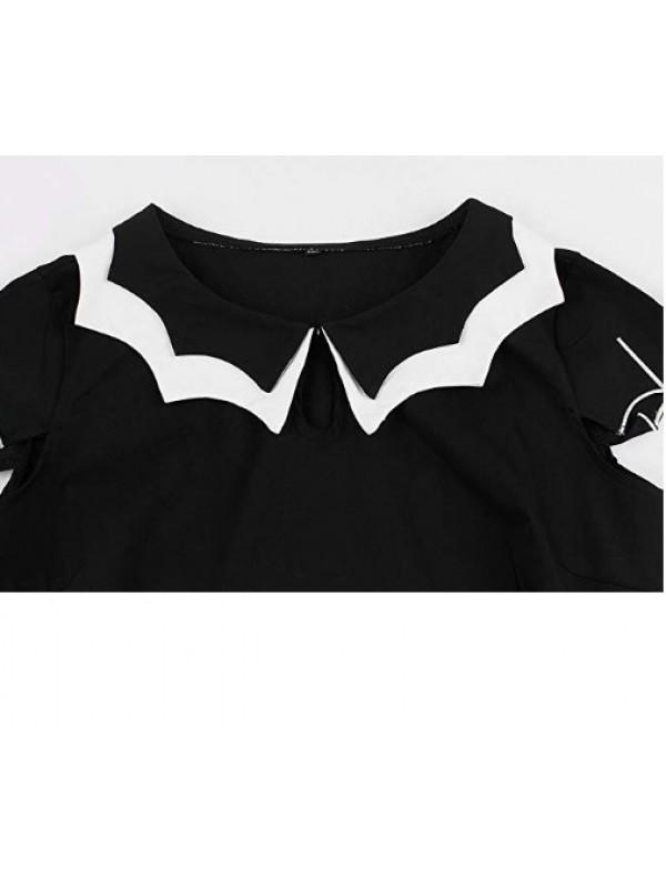 1950's Women's Bat Spider Web Embroider