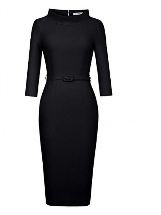 1950's Vintage 3/4 Sleeve Elegant Pencil dress