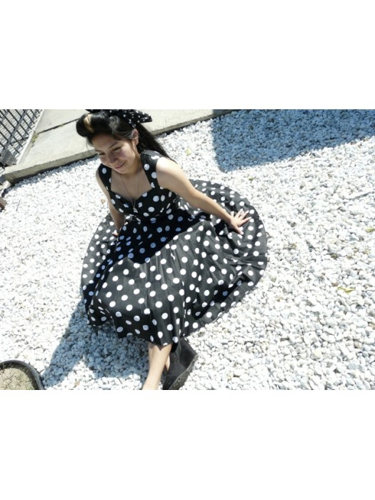 Women's Retro vintage sweetheart style pin up dress FREE USA SHIPPING