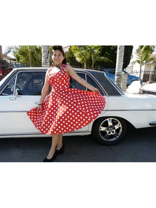 women's dress retro vintage swing stylesweetheart style pin up dress