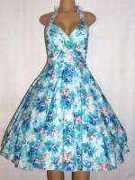 Women's Retro vintage halter dress floral print